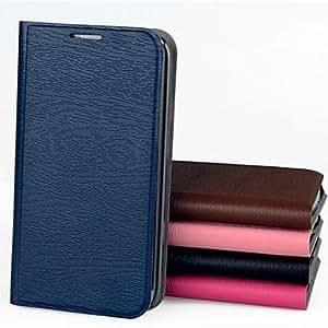 JJENew Design Wood Grain PU Leather Case for Samsung Galaxy S3 Mini I8190 (Assorted Colors) , Pink