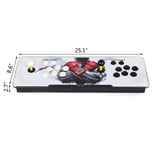 Happybuy Video Game Console, Arcade Machine 1500 Classic Games, 2 Players Pandora's box 5S multiplayer home Arcade Console 1500 Games All in 1 NON-JAMMA PCB Double Stick Newest Design Buttons Power HD by Happybuy (Image #2)