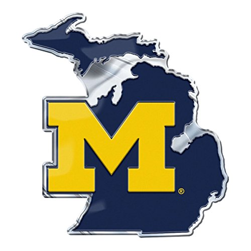 ProMark Michigan Wolverines on State Background Auto Emblem