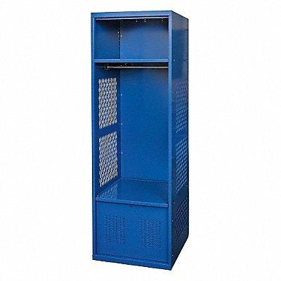 (HALLOWELL Gear Locker 24x18 Blue with Foot Locker)