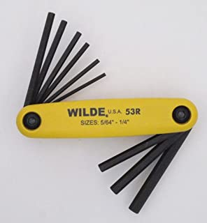 product image for Wilde Tool 53R/Bb 9 Pc. Hex Key Fold Up Set Sizes 5/64.25 Carded