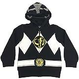 Power Rangers Big Boys I Am Costume Zip Hoodie Black 7/8