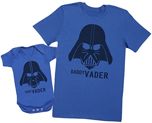 Mens T Shirt /& Baby Bodysuit Matching Father Baby Gift Set Zarlivia Clothing Baby Vader /& Daddy Vader