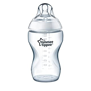 Tommee Tippee Closer to Nature Added Cereal Baby Bottle, Y-Cut Nipple, Easy Latch Nipple, 11 Ounce, 1 Count, Clear (522542)