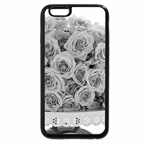 iPhone 6S Plus Case, iPhone 6 Plus Case (Black & White) - Rose Cake