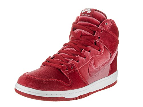 Nike Men's Dunk High Premium SB Skate Shoe (8.5 D(M) US, Gym Red/Gym Red/Wht)