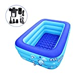 iBigboy Inflatable Hot Tub Bathtub Swimming Pool Portable Travel Pools with Electric Air Pump (120cm)
