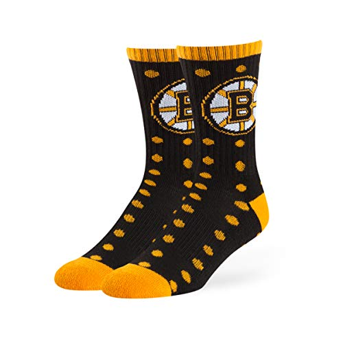 OTS NHL Boston Bruins Male Lucelle Sport Socks, Black, Medium