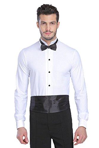 Xfentech Ballo Uomo Abbigliamento Da Danza Latina Body Camicia Bianco Moderno Moda Costumi w7qFw