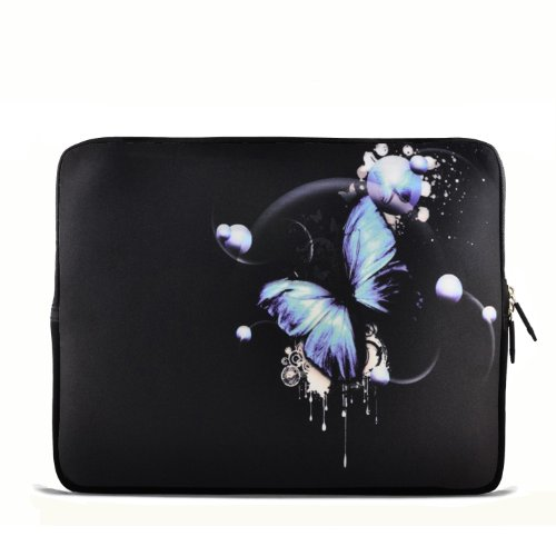 """Blue Butterfly 6"""" 7"""" 7.85"""" inch tablet Case Sleeve Carrying Bag Cover for Apple iPad mini/Samsung GALAXY Tab P3100 P6200/Kindle Paperwhite/Kindle Touch/Kindle fire/Kindle fire HD 7 inch/Acer Iconia A100/Google Nexus 7/Noble NOOK Color"""