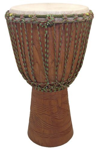 Hand-carved Professional Djembe Drum From Mali - 13