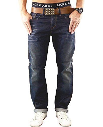 JACK & JONES Herren Jeans jjBOXY 306 Hose Loose Fit Relaxed Blue Denim (33W /32 L, Dunkelblau (Medium Blue Denim Fit:LOOSE))