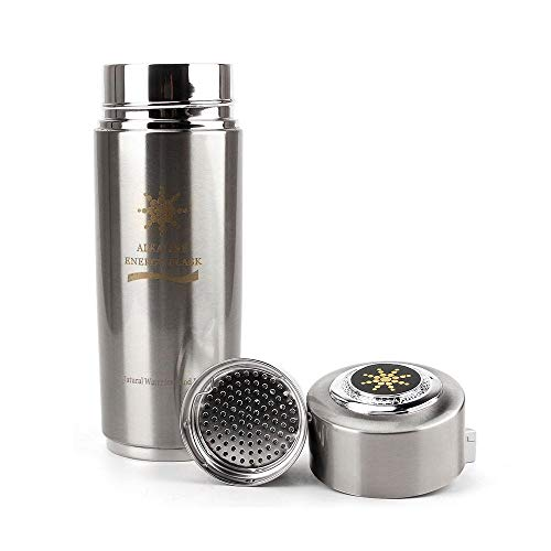 Stainless Steel Hydrogen Generator - SUPAERCUPH Stainless Steel Hydrogen Generator Ionizer Alkaline Water Bottle for Pure H2 Rich Hydrogen Electrolysis Hydration Electrolyte