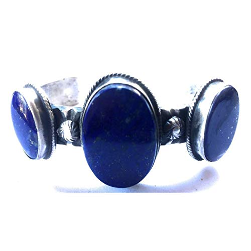 - Nizhoni Traders LLC Chimney Butte Navajo Lapis Sterling Silver Cuff Bracelet Signed Stamped