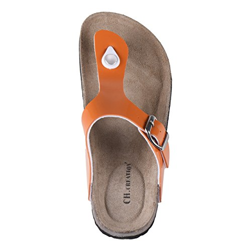 Ladies Comfort Sandals BIOCOMFORT in 4 Designs Orange seLbEM