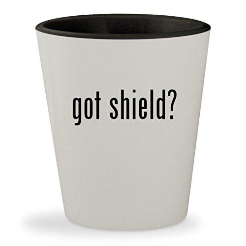 got shield? - White Outer & Black Inner Ceramic 1.5oz Shot - Sunglasses Brooke Shields