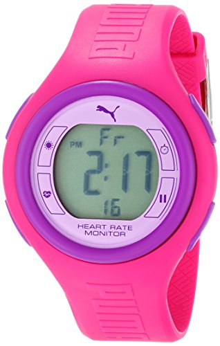 PUMA Women's PU910541012 Pulse Hot Pink and Purple Digital Heart Rate Monitor Watch
