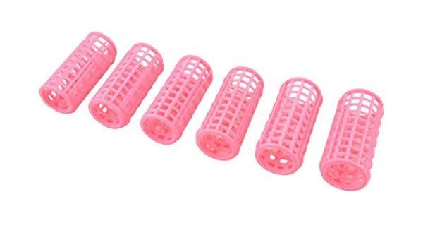 Amazon.com: eDealMax DE 12 piezas de plástico Estilo Para Mujeres de Pelo del bigudí del rodillo, Rosa, 0,2 Libra: Health & Personal Care