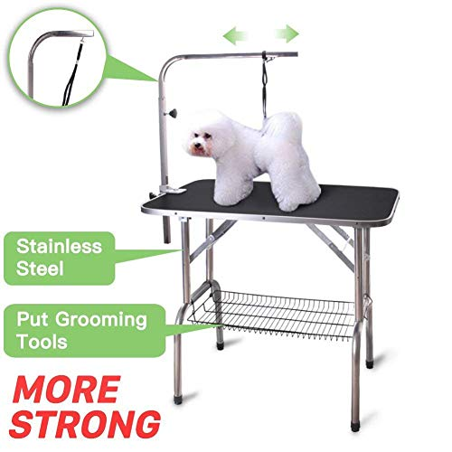 Pingkay High Quality Foldable Dog Grooming Table