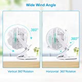 KEYNICE USB Desk Fan, 4 Inch Table Fans, Mini