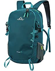 SMALL Daypack Cycling Hiking Backpack TOFINE Water Resistant Travel Backpack Lightweight 25 Litre