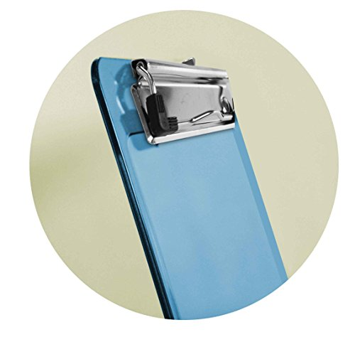 Acrimet Clipboard Memo Size Low Profile Clip (Blue Color) (Pack - 3) Photo #5