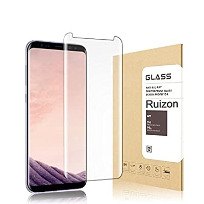 Galaxy S8 Plus Screen Protector,Ruizon Tempered Glass [Case Friendly] 3D Curved Edge Ultra Clear 9H Hardness Anti-Scratch, Anti-Fingerprint,For Samsung Galaxy S8 Plus [1-Pack]