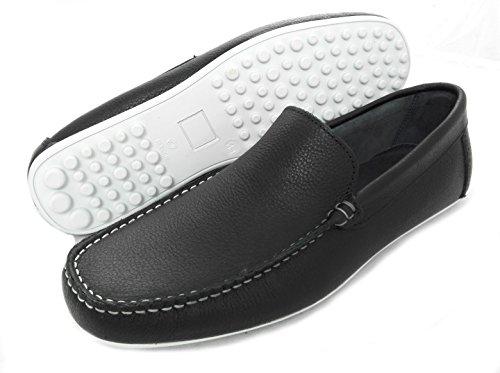 Zerimar Herren Leder Schuhe Mokassin Herren Lederschuh Schuh Leder Casual Schuh Täglicher Gebrauch Schöne Leder Schuhe für Den Mann Sportlich Schuh Farbe Marineblau Größe 40