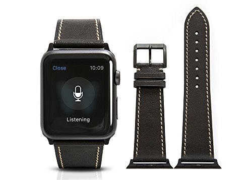 Apple-Watch-BandCalf-leather-Black-fit-42mm-Watch-Strap-with-Polished-Pin-buckle