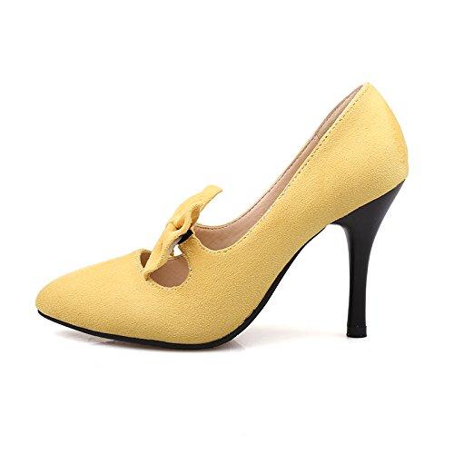 Dress Heel Shoes Black Bow Womens AIWEIYi Pointed toe Sweet Pump High 0gUxY