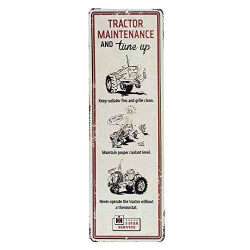 Farmall Tractor Signs - Open Road Brands Farmall Tractor Maintenance Embossed Tin Sign Garage Décor, 17