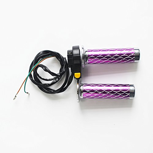 Right Throttle Handle/Grip w/ Kill Switch with Metal Pin Combo, Gas Motorized Bicycle (purple)