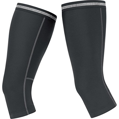 GORE BIKE WEAR Unisex Thermo-Kniewärmer, GORE Selected Fabrics, UNIVERSAL Thermo Knee Warmers, Größe M, Schwarz, AUNTKW