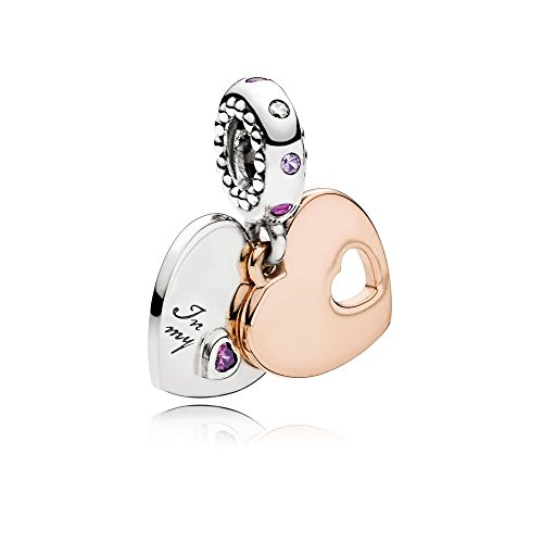 Pandora Part of My Heart Pendant Multi colored Charm