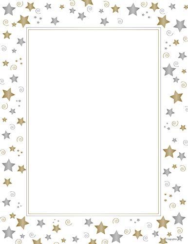 (Stars & Swirls Design Paper, Letter Size, White, 40 Sheets)