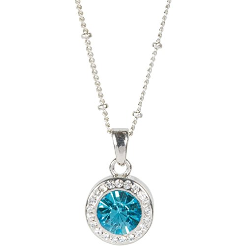 March birthstone necklace amazon march birthstone necklace aloadofball Choice Image