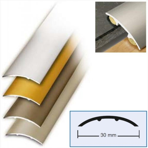 Bodenprofil Übergangsprofil 100 x 3 cm Alu Edelstahl Optik