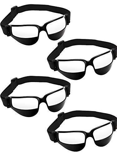 Training Goggles - Patelai 4 Pieces Basketball Dribble Goggles Dribbling Specs for Basketball Training Aid (Black)