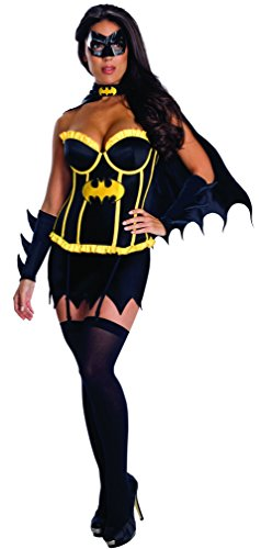 Secret Wishes Womens DC Comics Batgirl Corset Costume, Black, ()