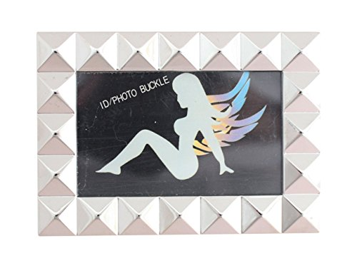 M297 Toneka Rock Punk Stardust Pyramid Picture Frame Rectangular Plaque Belt Buckle