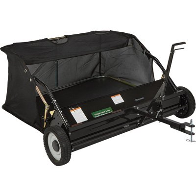 Strongway 42in.W Lawn Sweeper - 13 Cu. Ft. Capacity by Strongway