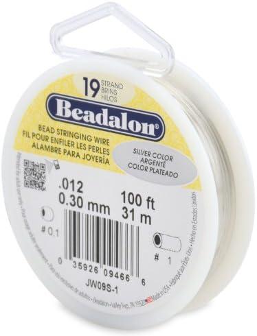 Beadalon 19 Strand Stringing 0 012 Inch 100 Feet product image