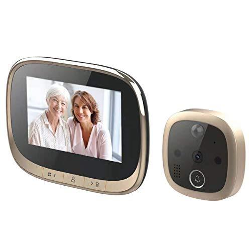 Qinhum 4.3inch Digital Door Viewer, Doorbell with Motion Detection, Smart Doorbell with Camera for Home Security