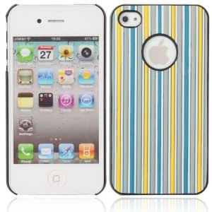 Vertical Stripes Protective Hard Back Case for iPhone 4/4S Colorful (5)