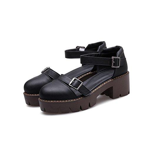 AdeeSu Femme Compensées 36 Noir Sandales 5 Noir 1EqxrEaAw5