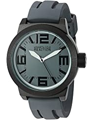 Kenneth Cole Reaction Mens RK1233 Triple Gray White Details Watch