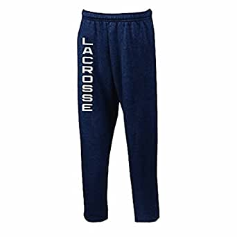 Vertical Lacrosse Sweatpants (Color/Size=Navy, Small)