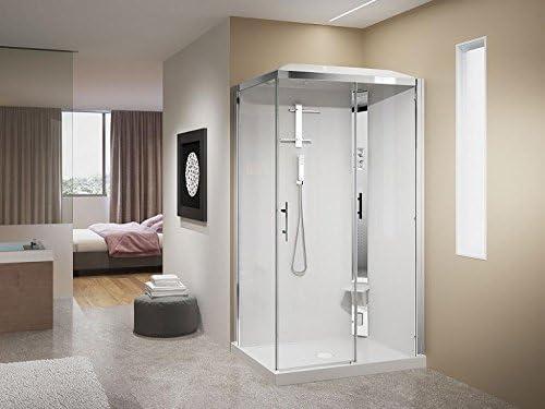 Novellini cabina ducha Crystal 2P 120 x 80 1 puerta corredera con ...