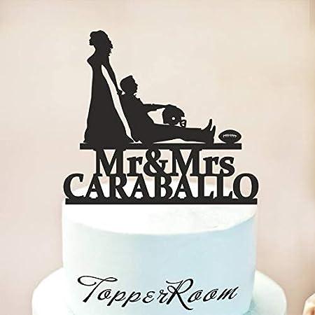 Decoración para tarta de boda, decoración para tarta de fútbol ...