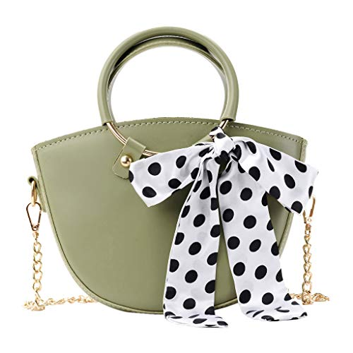 (HongMong Women Fashion Messenger Wild Scarf Fashion Bag One-Shoulder Small Bag)